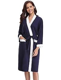 Abollria Unisex Albornoz Primavera Verano Batas y Kimonos Batas Invierno con Cinturón