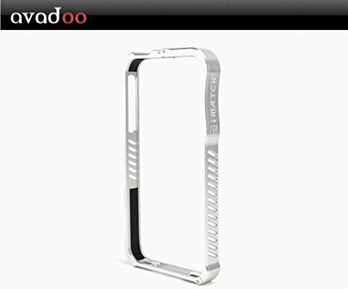 Avadoo® iPhone 4/4S iMatch Metal Bumper Case für iPhone 4 und 4S - Aluminium Silber - Avadoo Serie Blade Bumper Cases - iPhone 4 Metall Case Bumper - Don´t go naked !!! Vapor 4 Bumper Case