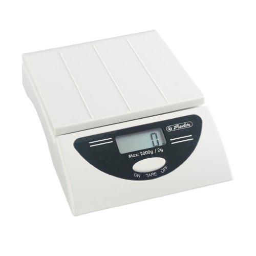 Herlitz 1604123 Briefwaage elektronisch bis 2.000g weiß mit Batterie 4x 1,5 V Mignon