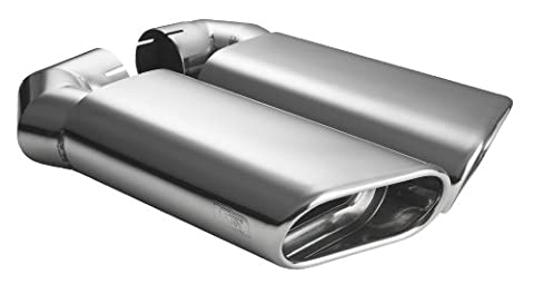 CARTUNER® Auspuffblenden VW TOUAREG Endrohre Duplex Edelstahl 2002-2013 Sportauspuff Optik