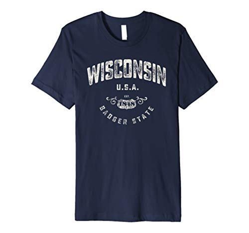 Wisconsin Badger State Vintage T-Shirt