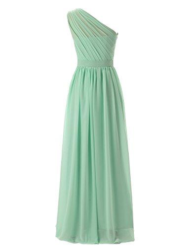 Dresstells, une épaule robe de soirée robe de demoiselle d'honneur longueur ras du sol Rouge