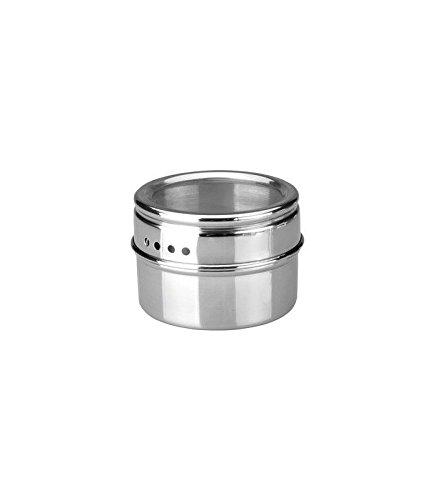 Ibili 665710 Boîte à Epices et Condiments Magnétique Inox Argent 15 x 8 x 18 cm