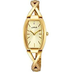 Lorus Ladies' Cross-Over Gold Tone Dress RRW50EX9