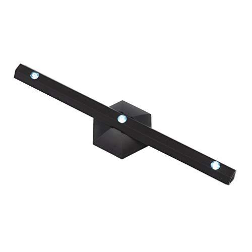 LED Leisten mit Magnet Schwarz LED Lichtleiste Mit 3 weißen LED 6-eckiger Halterung mit Klebebefestigung und Magnet vielseitig montieren Leselampe