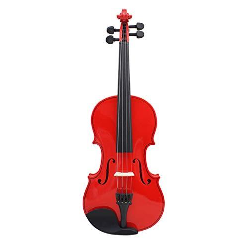 Violini Strumenti Corda Acero Palissandro Universale per Adulti e Bambini Principianti Rossi Luminosi Cartelle portaspartiti