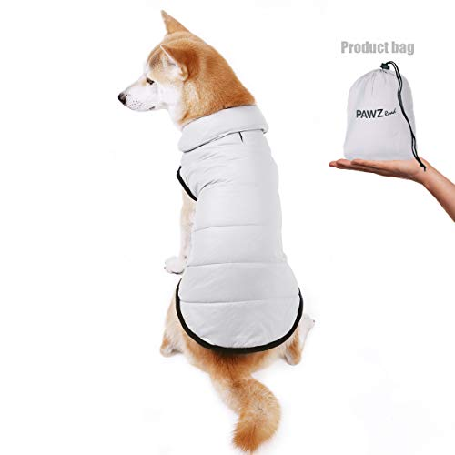 PAWZ Road Chaqueta de Invierno portátil Abrigo Perro para Mascotas de tamaño pequeño, Mediano, Grande, Talla M, L, XL, 2XL, 3XL, 4XL, 5XL, Color Beige