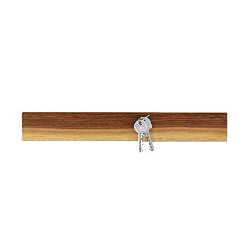 NATUREHOME Schlüsselbrett Magnetleiste für Messer Nussbaum-Holz geölt 350mm