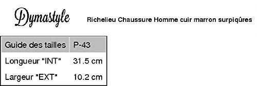 Chaussure Homme Richelieu cuir lacet 6 trous marron Marron