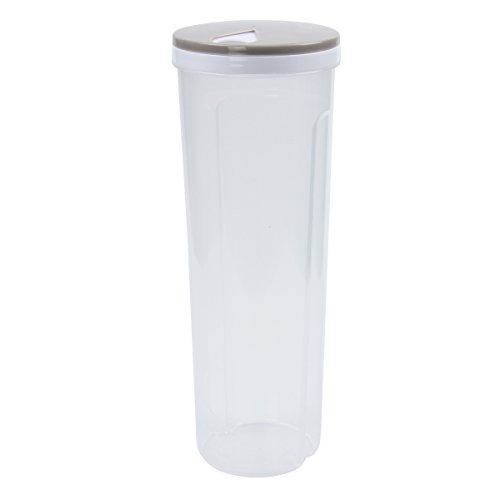 Cadillaps Aufbewahrung Box Kunststoff Transparent Frischhalteboxen 1.5 Liter Schüttdose 10.5*28.6cm für Spaghetti oder Nudeln