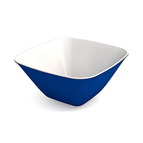 Ornamin Schale 900 ml blau, Melamin   leichte, eckige Kunststoffschale   Alltags-Geschirr für zu Hause, Camping, Picknick, BBQ, Gemeinschaftsverpflegung, Großküchen   Dessertschale, Suppenschüssel, Beilagenschale, Müslischale, Salatschüssel