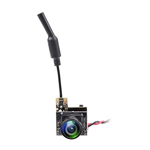 MakerStack Mini cámara FPV AIO 5.8G 48CH CMOS 800TVL 25mW PAL 170 Grados para Racing Drone Quadcopter como Inductrix de Cuchilla de Whoop diminuto