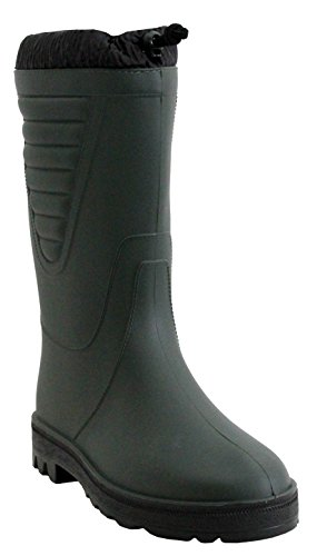 Stormwells Mens Boys Polar Black Warm Thermal Fleece Lined Fishing Wellies Waterproof Wellingtons Boots UK Sizes 4-12