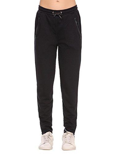 ADOME Damen Hose Jogginghose Casual Elastische Taille mit Tunnelzugbund Jogpants Sporthose mit Taschen Swearthose