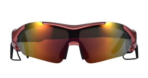 K1 Rot Sport-Sonnenbrillen mit Stereo-Musik-Unterstützung und Freisprecheinrichtung Bluetooth-Designer