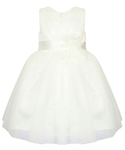 Mädchen Prinzessin/Brautjungfer Kleid-4Farben erhältlich-Weiß, Wein, Lila,/Pink/Prinzessin Kleid. Baby Kleinkind Mädchen Kleid-Fairy Princess UK. 2bis 7Jahren. Gr. 2-3 Jahre, Rosa - Weiß