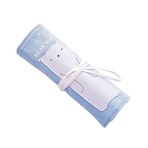 jingyuu 1 Stück Schulsachen Kinder Tier Baumwolle und Leinen Schwarz Pen Tasche Kosmetiktasche Aufbewahrungstasche Federmäppchen for Mädchen Teenager 26 * 19cm