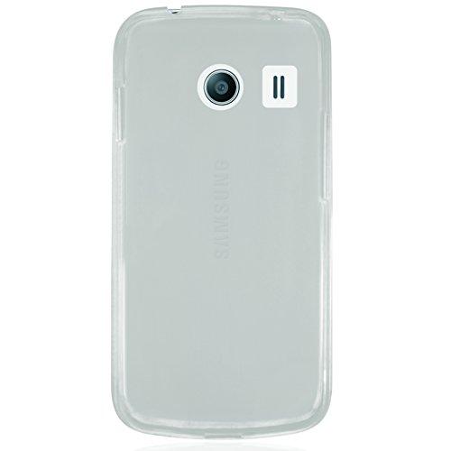 Phonix Gel Protection Plus Hülle mit Displayschutzfolie für Samsung G310 Galaxy Ace Style transparent/weiß