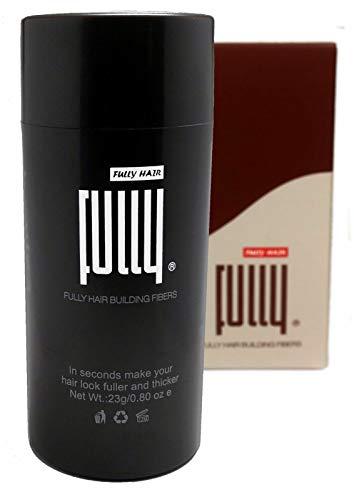 FULLY Hair Fibers - Schütthaare - Streuhaare zur Haarverdichtung bei Haarausfall und lichtem Haar- Premium Qualität in Sekunden volles Haar - 23g (Schwarz)
