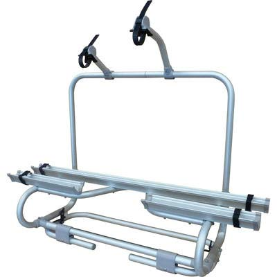 Berger Fahrradträger Premium E-Bike, Silber, Tragkraft max. 50 kg, Alu, 2 Fahrräder, Deichsel-Fahrradträger -