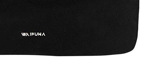 Ampia Borsa Rollover Di Waipuna Realizzata In Nylon Di Alta Qualità Con Portachiavi Nero / Nero