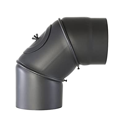 Kamino-Flam Stenotherm Lacquered Chimney Pipe, Black