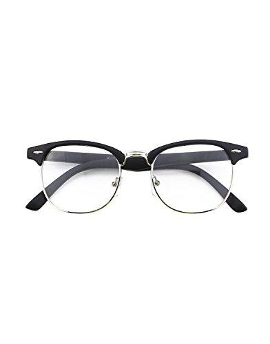 CGID-50er-Jahre-Retro-Nerd-Brille-Halbrahmen-Hornbrille-Clubmaster-Stil-Rockabilly-Streberbrille