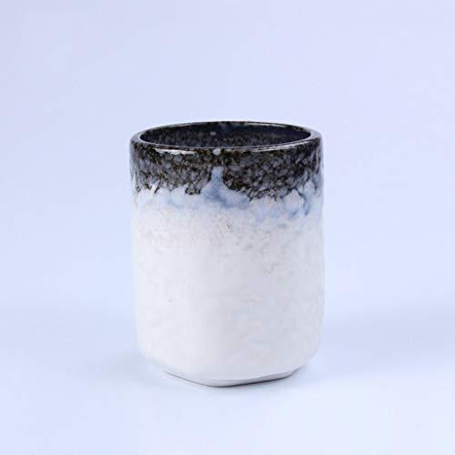 QIYINGYING Taza de cerámica Copa de Regalo Taza de Cocina Coreana Taza de té-Taza Estilo japonés Taza de Sake Estilo Antiguo Creativo (uno Cargado) 8 X 10cm