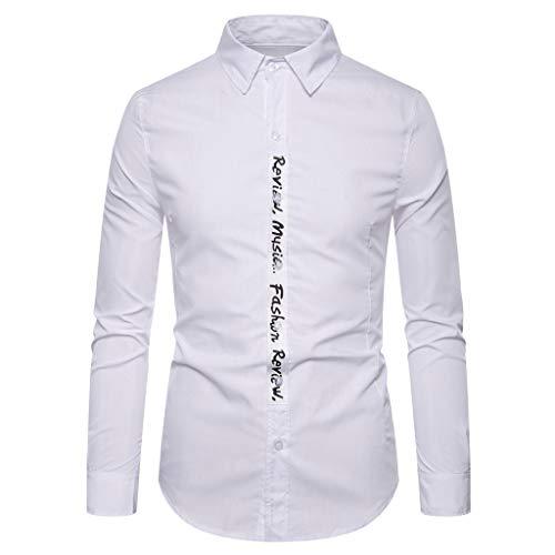 VBWER Hemd Herren Männer Print Muster Hemden Freizeit Business Party Langarm Shirt Top Bluse Slim Fit Bügelleicht,Herbst Modern Super Qualität Auch Fürs Oktoberfest Geeignet (Sheriff Kostüm Walking Dead)