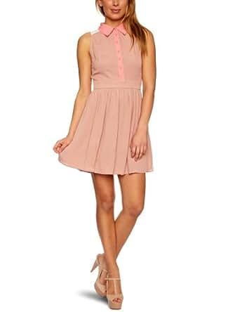 Lipsy DR06007 Sleeveless Women's Dress Brown 8