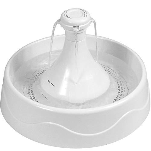 Pet Water Fountain Drinkwell Töpfe Zyklus Automatische Wasserfütterung Weiß Runde Kunststoff 3.6L für Kurzzeitreisen Katze & Hund