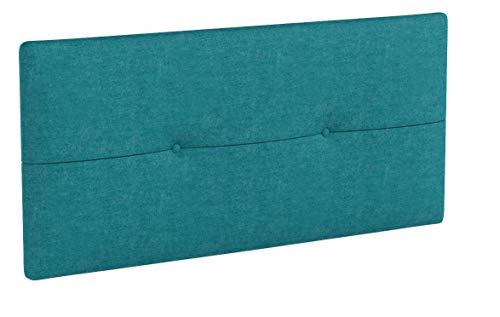 SUENOSZZZ - Cabecero de Madera Jazmin, tapizado Acolchado, en Tela Rio17 Color...