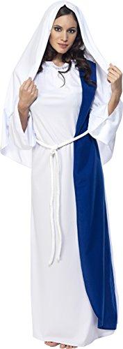 Smiffys, Damen Maria Kostüm, Kleid und Kopfbedeckung, Größe: M, (Heilige Kostüme Maria)