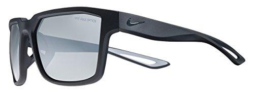 Nike ev0992–011flotta occhiali da sole (telaio grigio argento con lente flash), colore: nero opaco
