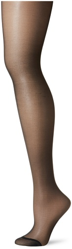 Berkshire Women's Plus-Size Queen Silky Sheer Control Top Pantyhose 4489, Fantasy Black, 3X-4X