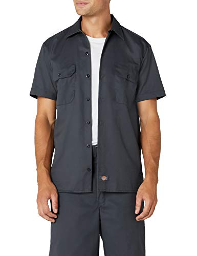 Dickies Work Chemise Manches courtes Homme - Gris (Charcoal Grey) -XL 053f4d382be