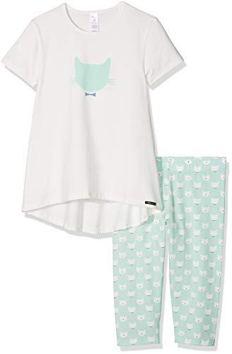 1f711344d3e33e Skiny Mädchen Lovely Dreams Sleep Girls Pyjama 3/4 Zweiteiliger Schlafanzug,  Mehrfarbig (Ivory