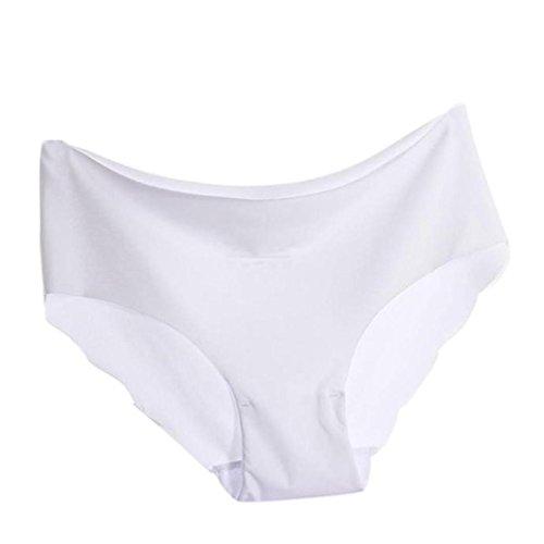 Vendita calda ! beikoard le donne intimo donna invisibile perizoma in cotone spandex gas senza cuciture 1pc (bianca, m)