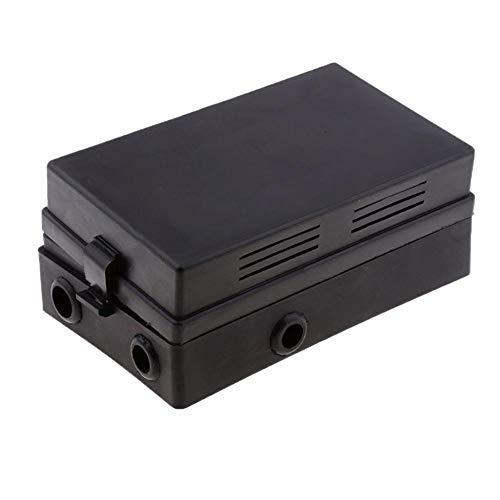 cineman Schwarz Automotive Marine Automotive 18-Wege-Sicherungsrelais-Box-Halter-Block Circuit Protector-Terminals 18-Wege-Sicherungshalter für Messer + 10-Fach-Relaissockel