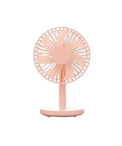 Fan USB-Mini, Schlafsaal Büro zu Hause Kleiner, Tragbare Stille (Farbe : Pink) (Fans Ruhige Tragbare)