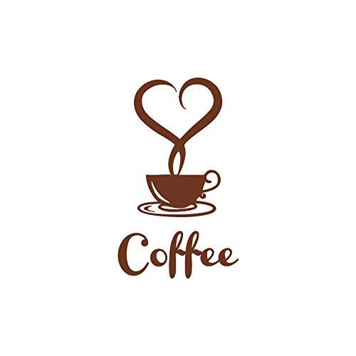 Oasics Wandaufkleber Black Board Wandaufkleber Neue Ankunft schönes Design Kaffeetassen Tee Kaffee Art Decal Vinyl Wandaufkleber Größe: 12x20CM (braun) -