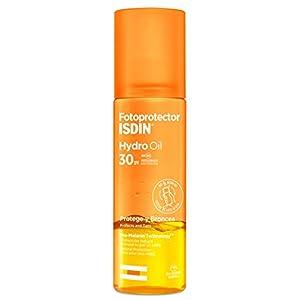 Fotoprotector ISDIN HydroOil SPF 30, fotoprotector bifásico que protege y broncea la piel, 200 ml