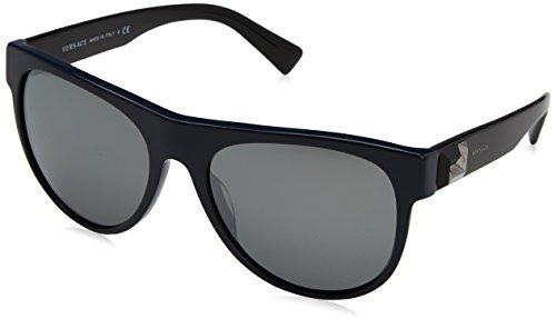 Versace Herren 0VE4346 52306G 57 Sonnenbrille, Blau (Bluette/Greymirrorsilver),