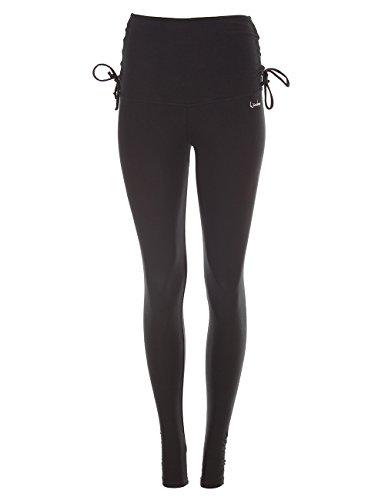 Winshape Damen Fitness Freizeit Extra Long WTL14 mit Verstellbarem Bund Slim Style Tights, Schwarz, XL