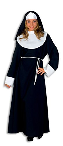 (Karneval-Klamotten Nonne Kostüm Damen mit Nonne Kopfbedeckung Nonnenkostüm Damen-Kostüm Größe 36/38)