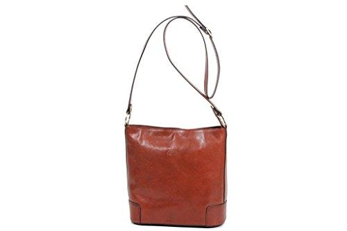 Handtasche/Umhängetasche Katana aus Färsenleder, SPZ K 82596 Braun - braun