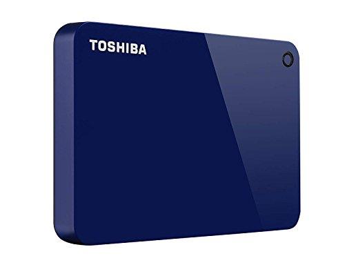 Toshiba Canvio Advance Externe Festplatte (4 TB, USB 3.0) Blau blau 2TB