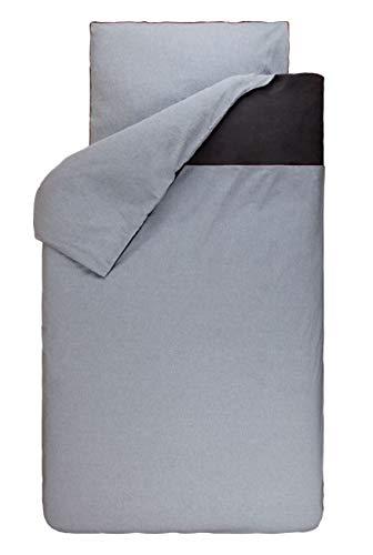 Bink Bedding Bettwäsche 135x200 cm 80x80 cm, Farbe:Paspel Chambray Grau (Grau Chambray Bettwäsche)
