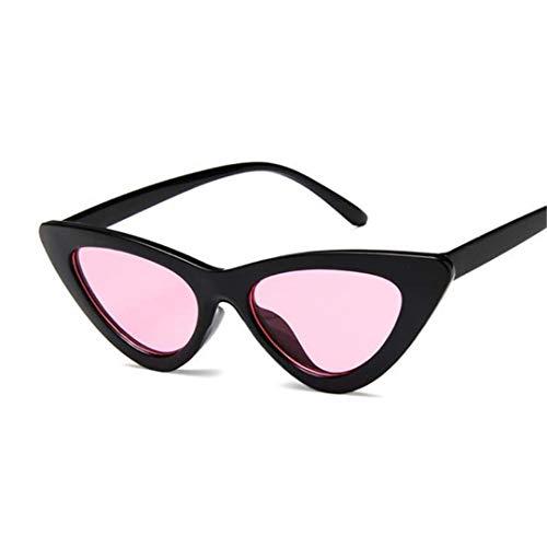 DAIYSNAFDN Mode Kleine Sexy Damen Cat Eye Sonnenbrille Frauen Vintage Spiegel Sonnenbrille Weibliche Uv400 Black Pink