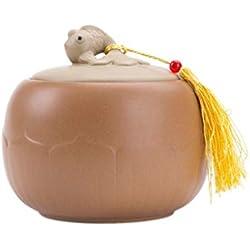RMXMY Urne commémorative en céramique pour les êtres chers - Grande - Peut contenir des cendres - Urne de crémation pour cendres - Gravure (Color : A)